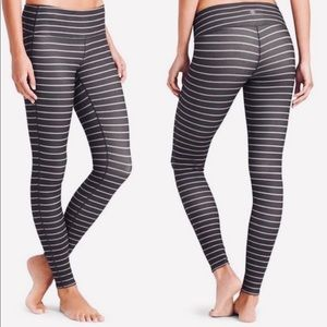 Athleta Small Chaturanga Striped Leggings.